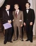 Icilio Biagetti si complimenta con il solista Gabriele Micheli e col maestro Carosi