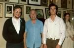 Col proprio maestro Mario Fidel e il maestro Severino Gazzelloni all'Accademia Chigiana